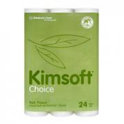 กระดาษชำระม้วน KIMSOFT* Choice Bathroom Tissue 24'R