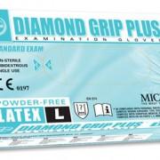 ถุงมือลาเท็กซ์ ชนิดไร้แป้ง Diamond Grip Plus Powder-Free latex Glove Size L