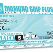 ถุงมือลาเท็กซ์ ชนิดไร้แป้ง Diamond Grip Plus Powder-Free latex Glove Size S