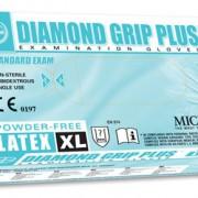 ถุงมือลาเท็กซ์ ชนิดไร้แป้ง Diamond Grip Plus Powder-Free latex Glove Size XL