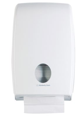 กล่องบรรจุกระดาษเช็ดมือ AQUARIUS* Double Clip Folded Hand Towel Dispenser 70230