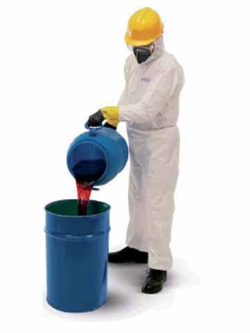 ชุดป้องกันฝุ่นเส้นใยและสารเคมีของเหลว KLEENGUARD* A30 Coveralls X Large 98004