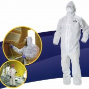 KLEENGUARD* A40 Liqui and Particle Protection Coverall, Protection, cofort and style designe around you.