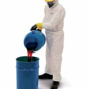 ชุดป้องกันฝุ่นเส้นใยและสารเคมีของเหลว KLEENGUARD* A30 Coveralls Medium