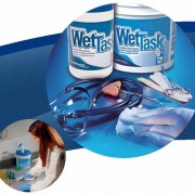 Surface disinfection made easy KIMTECH* Wipers for the WETTASK* System The compact, self-contained, wet wiping system.